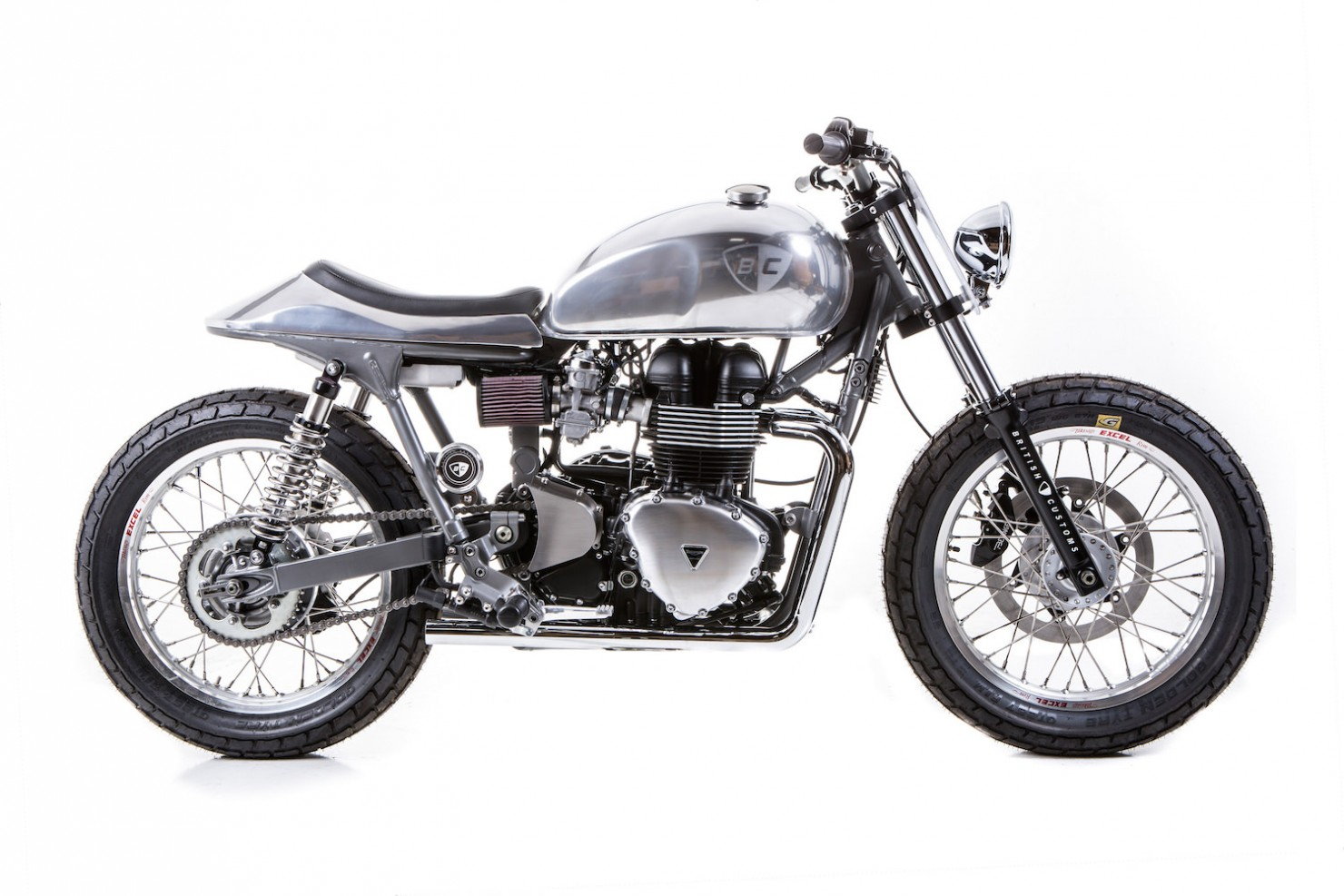 triumph bonneville by british customs. Black Bedroom Furniture Sets. Home Design Ideas