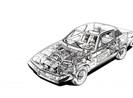 Triumph TR7 Wallpaper 450x330 - Triumph TR7 Cutaway Wallpaper