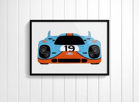 Porsche 917 Gulf 450x330 - Porsche 917 Silkscreen Posters
