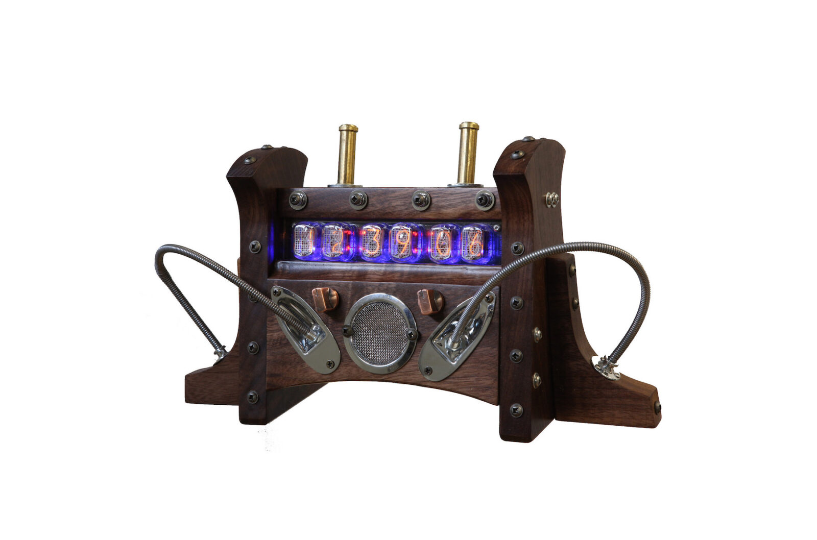 Steampunk Nixie Tube Clock 1600x1058 - Steampunk Nixie Tube Clock