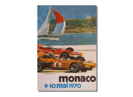 Vintage F1 Poster 450x330 - Vintage Monaco F1 Poster