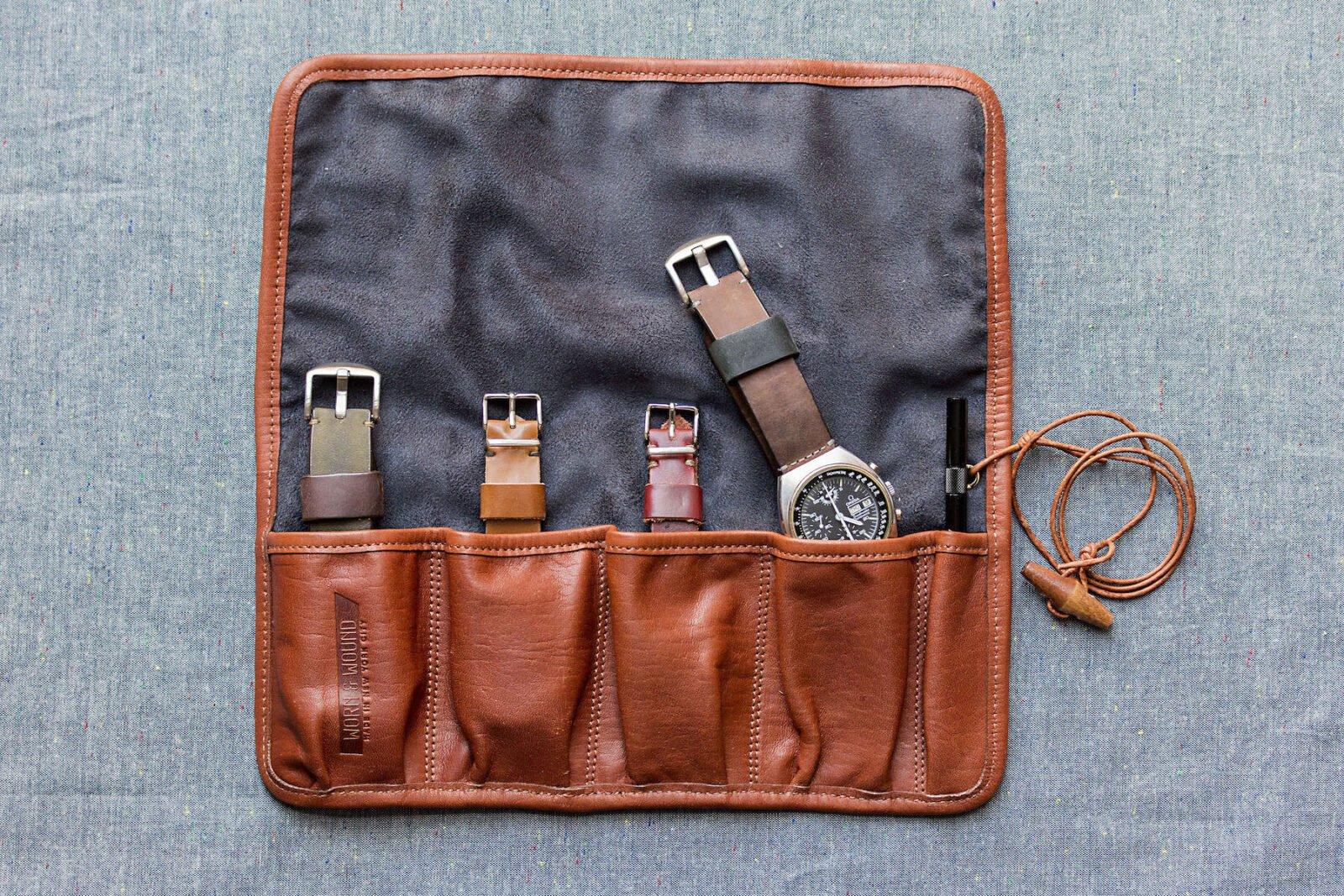 Watch Roll 1600x1067 - Harris Tweed Watch Roll by Worn & Wound