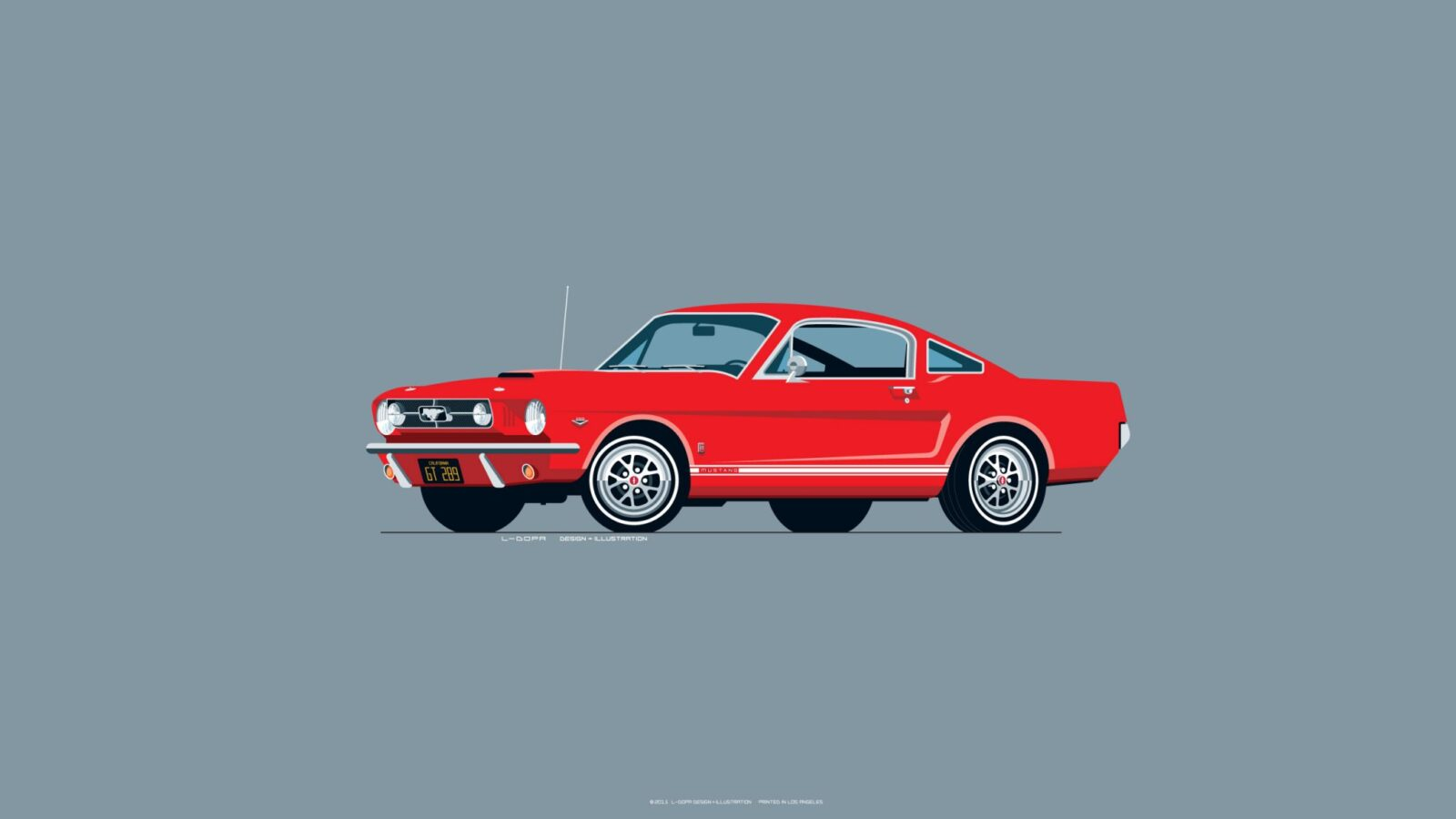 1965 Ford Mustang red 1600x900 - Iconic Automobile Wallpapers