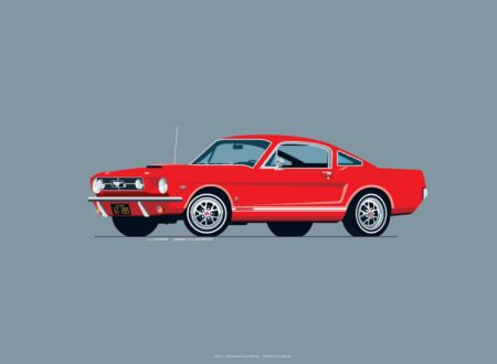 1965 Ford Mustang red 450x330 - Iconic Automobile Wallpapers
