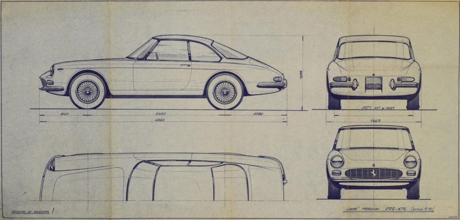Original Pininfarina Blueprints