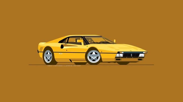 Ferrari_288GTO_Yellow