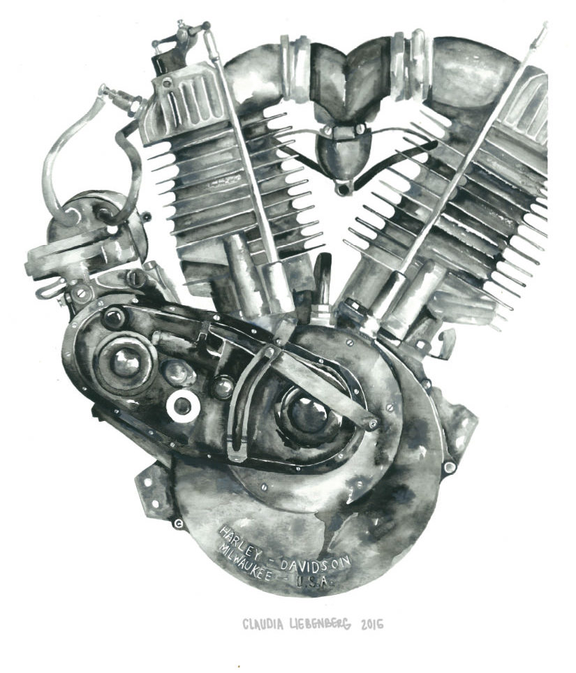 Knucklehead Engine Block