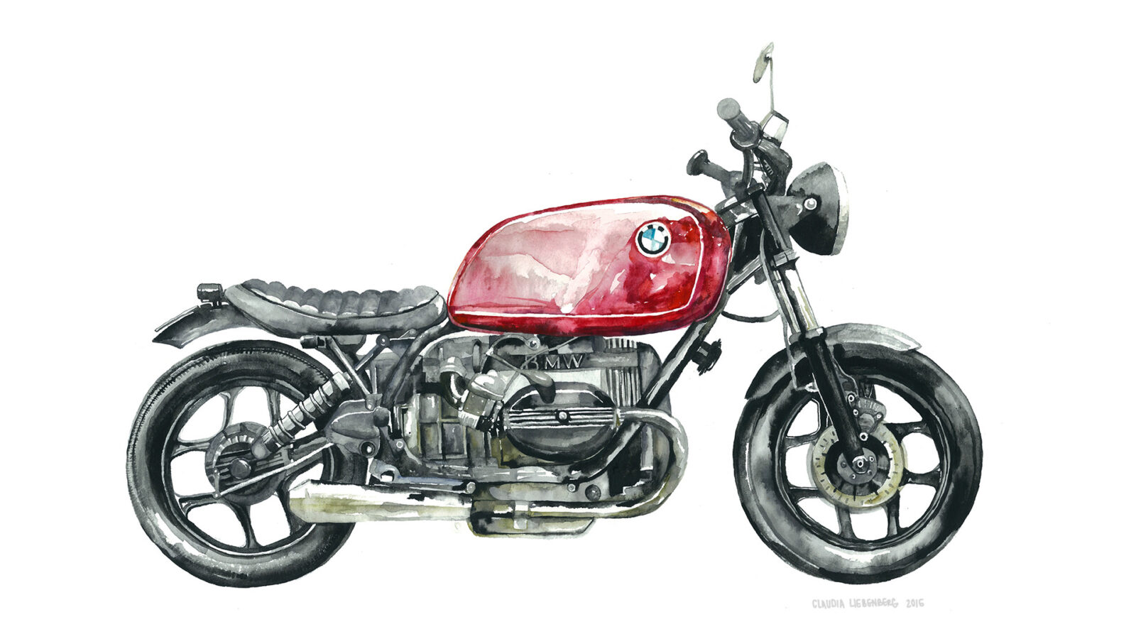 Lady in Red R100 1600x900 - Moto Watercolours by Claudia Liebenberg
