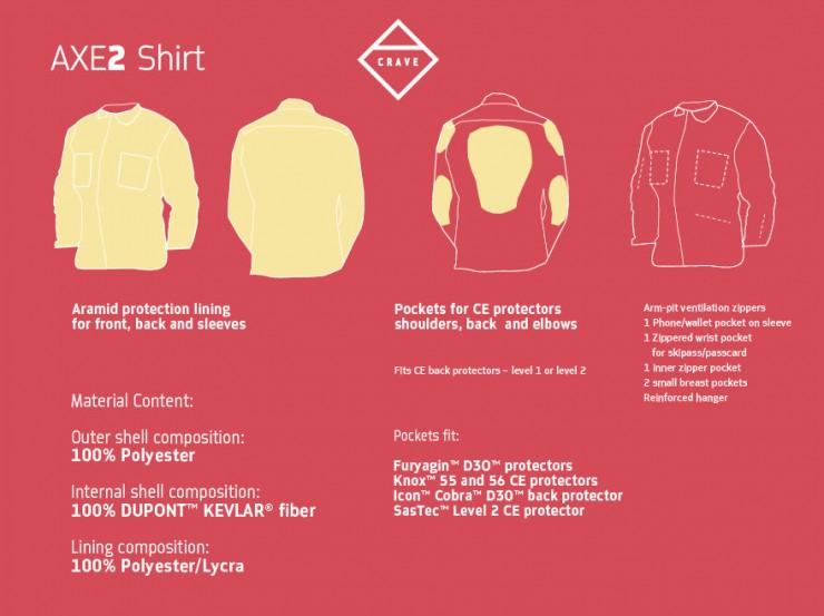 AXE 2 Motorcycle Kevlar Shirt