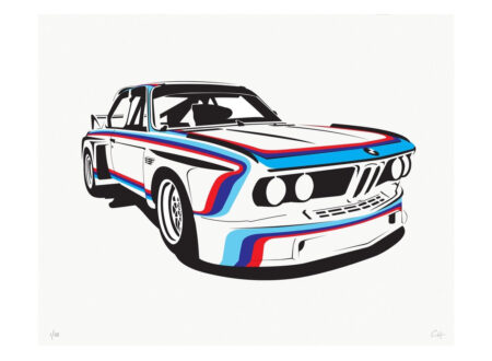 BMW CSL 450x330 - BMW Poster Series by Manual Designs