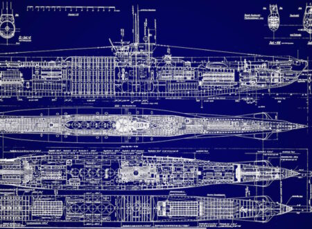 German UBoat Submarine Blueprint #1