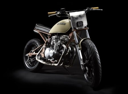Kawasaki KZ550 8 450x330 - Kawasaki KZ550 by No. 8 Wire Motorcycles
