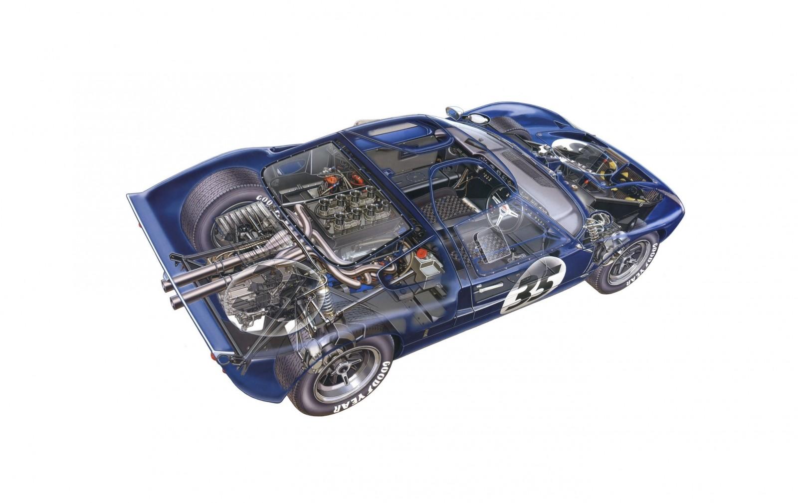 1965 Ford GT40 1600x1009 - Ford GT40 Cutaway