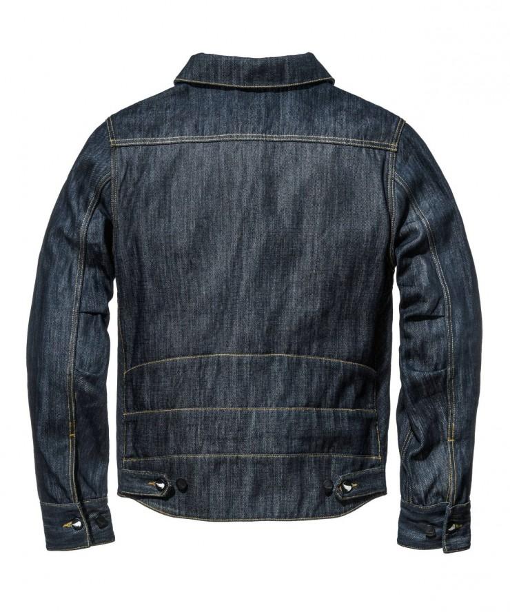 Motorcycle Denim Jacket Back