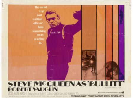"""Steve McQueen Bullitt Poster 450x330 - Original 1969 Steve McQueen """"Bullitt"""" Poster"""