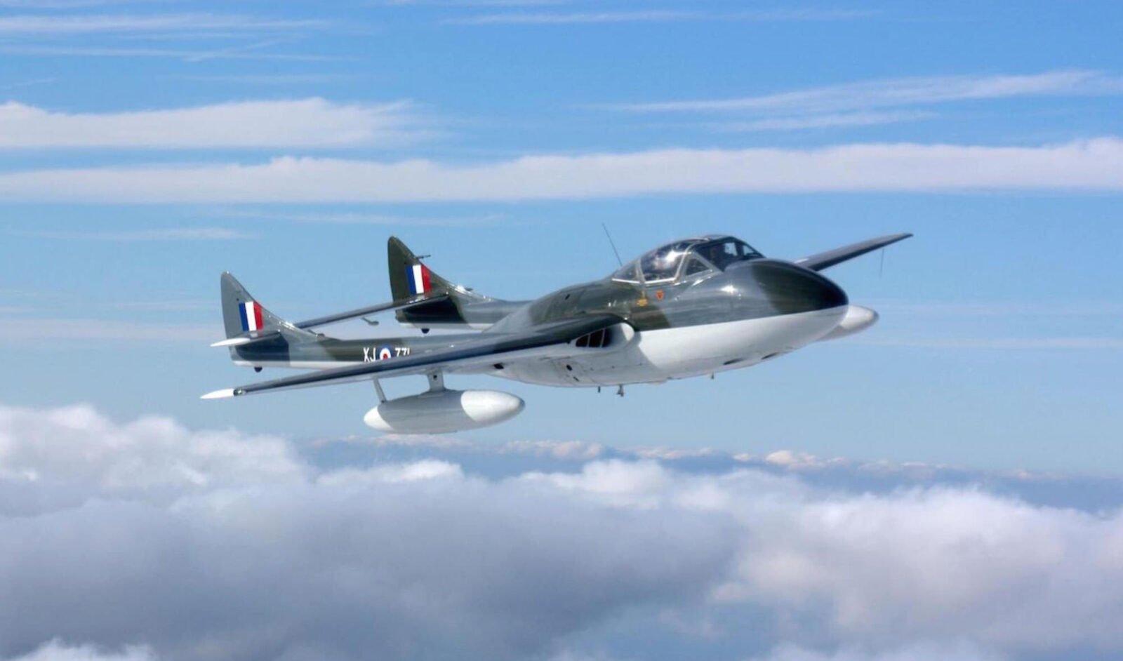 de Havilland Vampire T55 2 1600x942 - de Havilland Vampire Jet