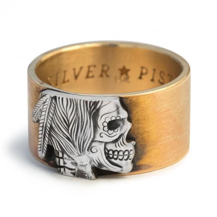 Hobo Nickel Gold Ring