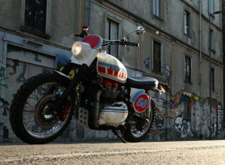 Triumph Scrambler 8 450x330 - Triumph Bonneville Scrambler by Grease Monkey