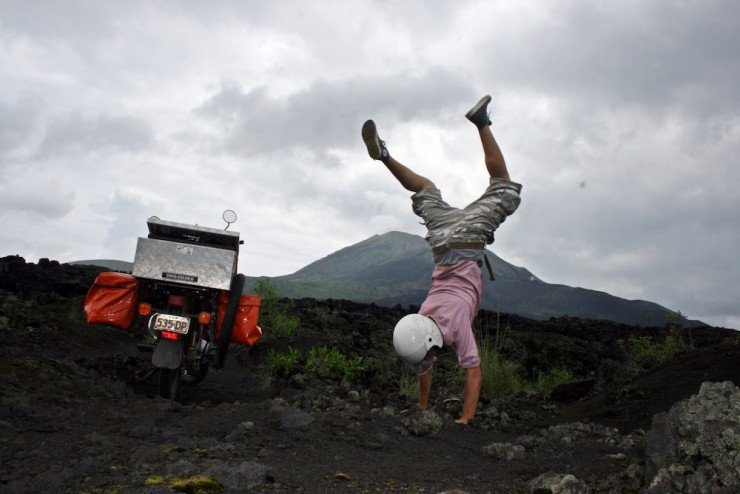 23. Handstands in the volcvano, Bali, Indonesia