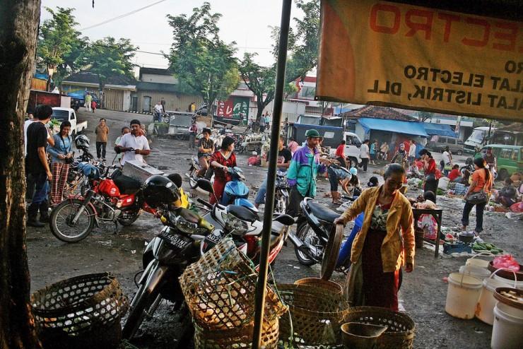 24. Morning market for breakfast, Java, Indonesia