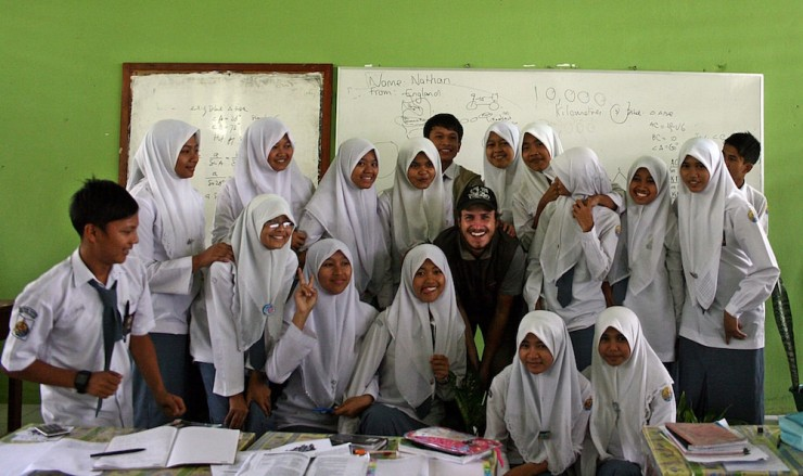 27. Dropping by a school for a chat, Sumatra Indonesia