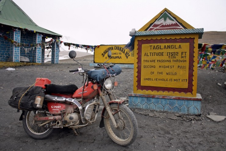 51. Riding the second highest road in the world, India
