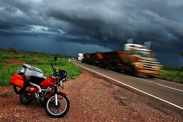 9. Avoiding road Trains, the Australian Outback