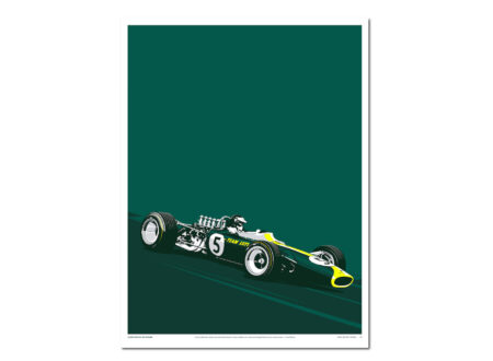 Jim Clark 450x330 - Jim Clark's Lotus 49: Screen Print Poster