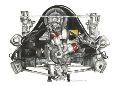 Porsche Engine Art 450x330