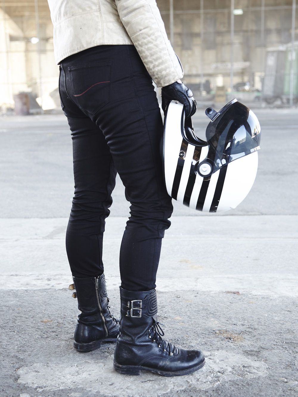 Tobacco Motorcycle Jeans 1