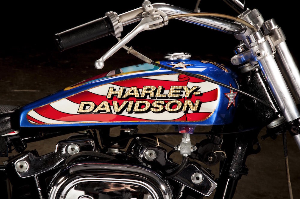 Famous Evel Knievel Bike At Auction: Evel Knievel Harley-Davidson XL1000