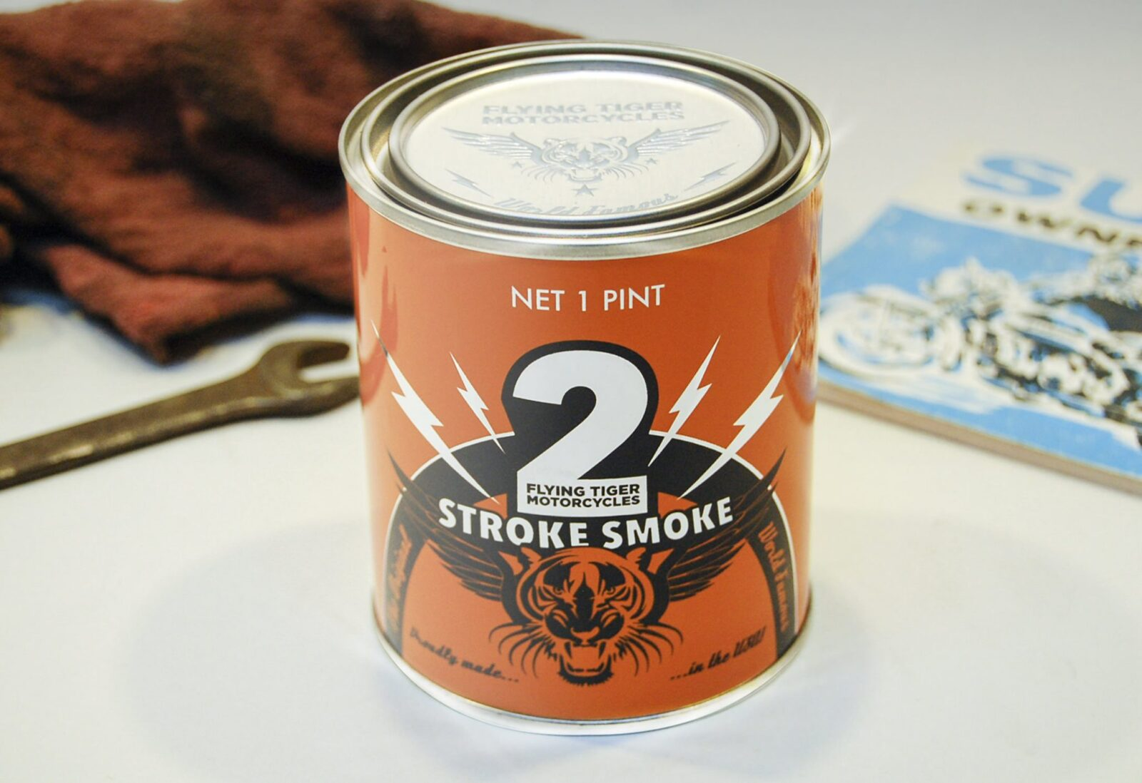 Two Stroke Candle 1600x1098 - Two Stroke Smoke Candle by Flying Tiger Motorcycles