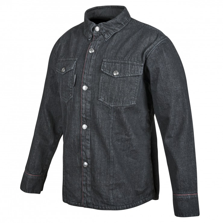 Gridlock Denim Moto Shirt by Speed and Strength 3