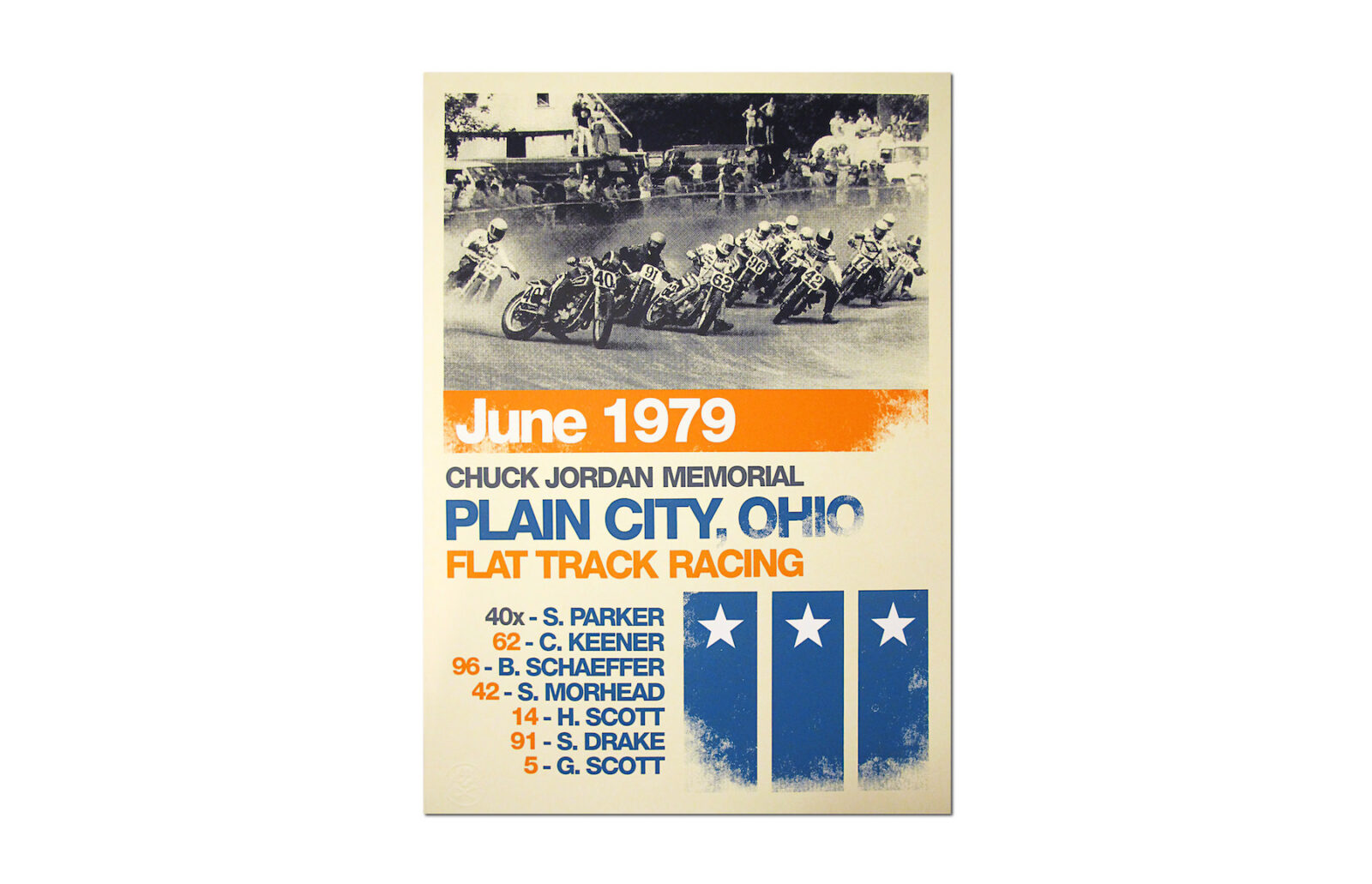 Motorcycle Racing Poster 1600x1031 - Plain City Poster by Rustle of Silk