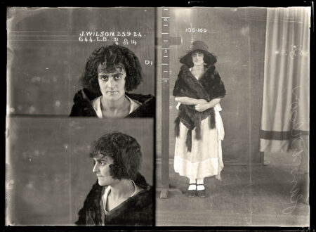 Vintage Australian Mugshot Photograph 16 450x330 - The Ladies of the Australian Underworld
