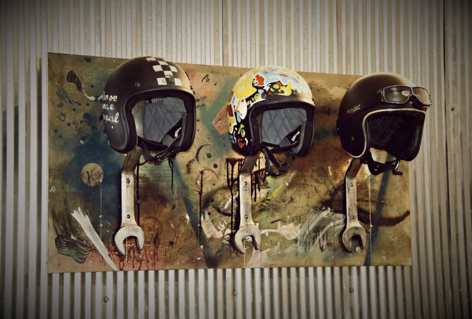 Wrench Motorcycle Helmet Rack 1 1600x1081 - Wrench Motorcycle Helmet Rack