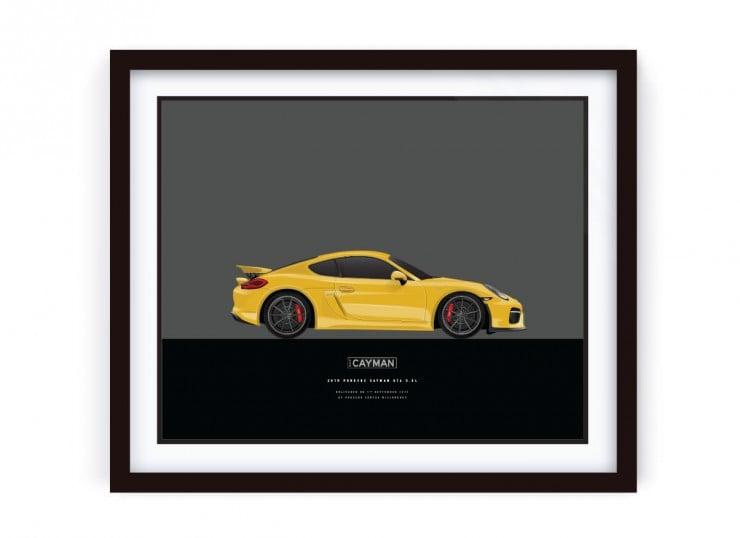 Framed_CAYMAN_Porsche_LRG