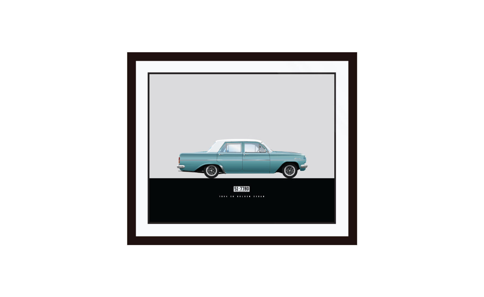 Framed EH Holden LRG 1600x984 - 1-Of-1 Bespoke Car Posters