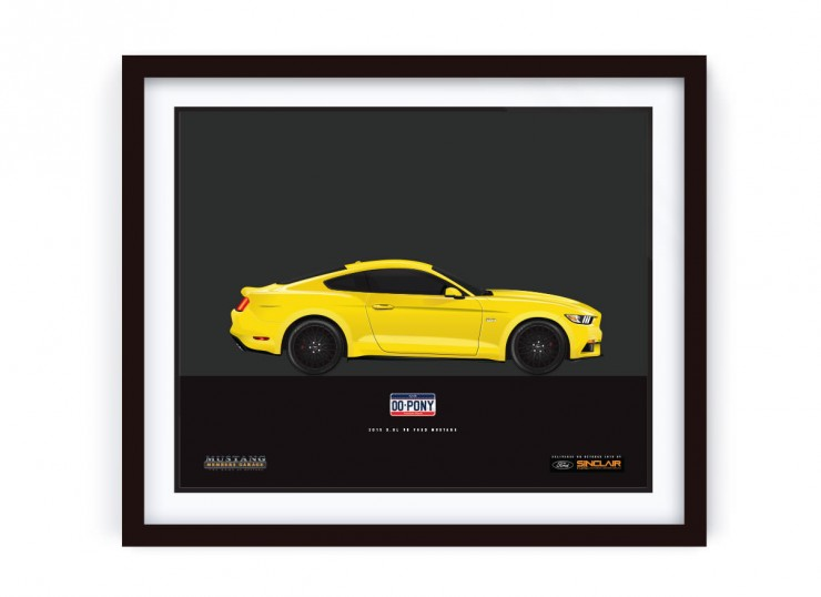 Framed_YellowMustang_LRG