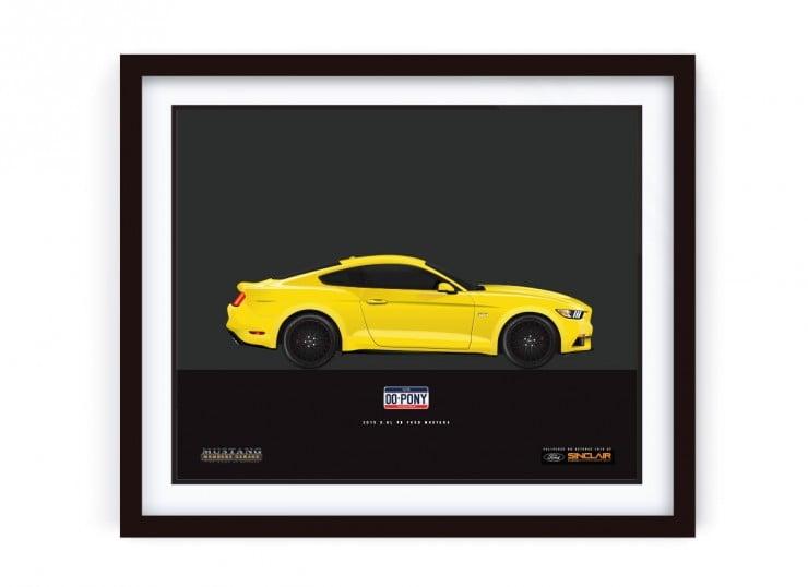 Framed_YellowMustang_LRG