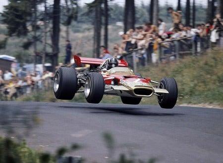 Graham Hill driving the Lotus 49 in 1969 450x330 - Desktop Wallpaper: Graham Hill Flying The Lotus 49