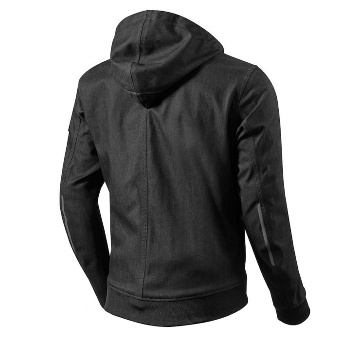 REV'IT! Stealth Motorcycle Hoodie Back Black