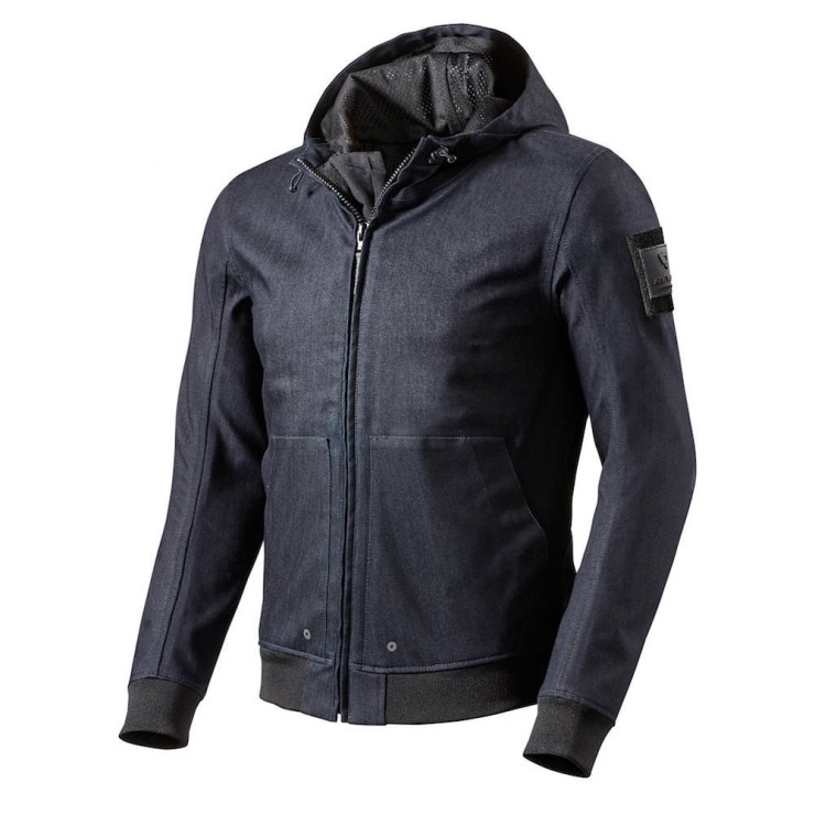 REV'IT! Stealth Motorcycle Hoodie Blue