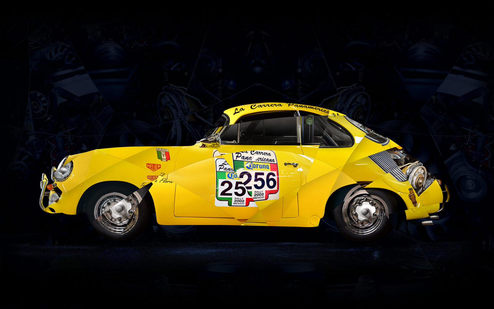 porsche jaune final 1600x1000 - The Art Of Amaury Dubois