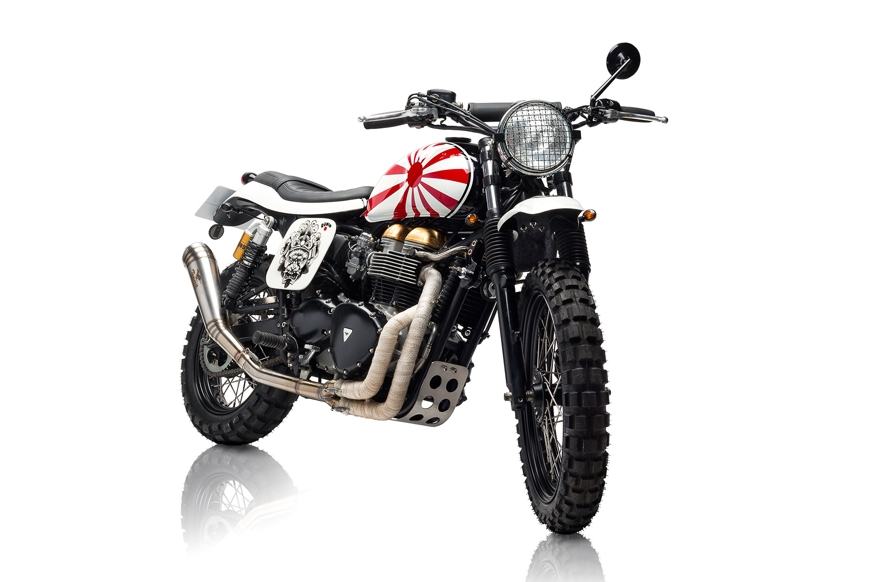 Custom Triumph Scrambler Motorcycle 14