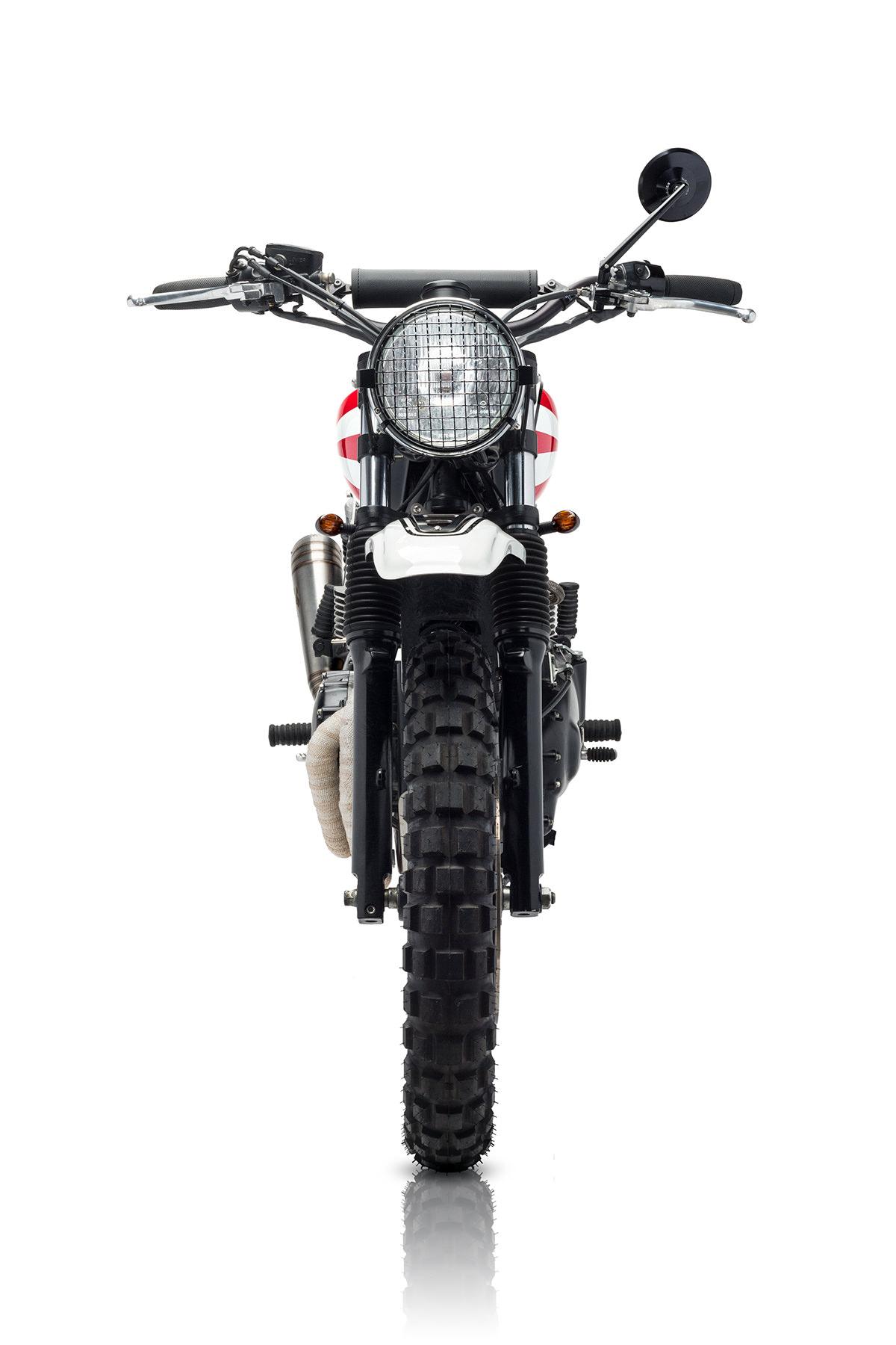 Custom Triumph Scrambler Motorcycle 7