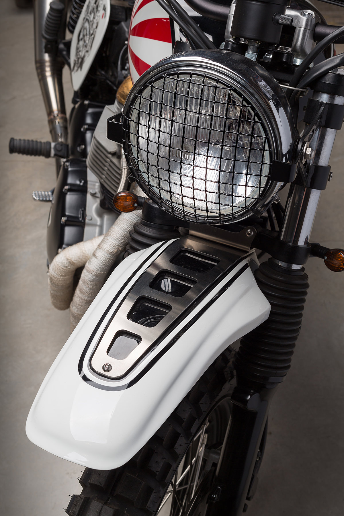 Custom Triumph Scrambler Motorcycle 8