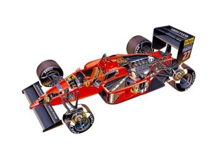Ferrari F1 87 Cutaway Wallpaper  450x330 - Ferrari F1/87 Cutaway Wallpaper