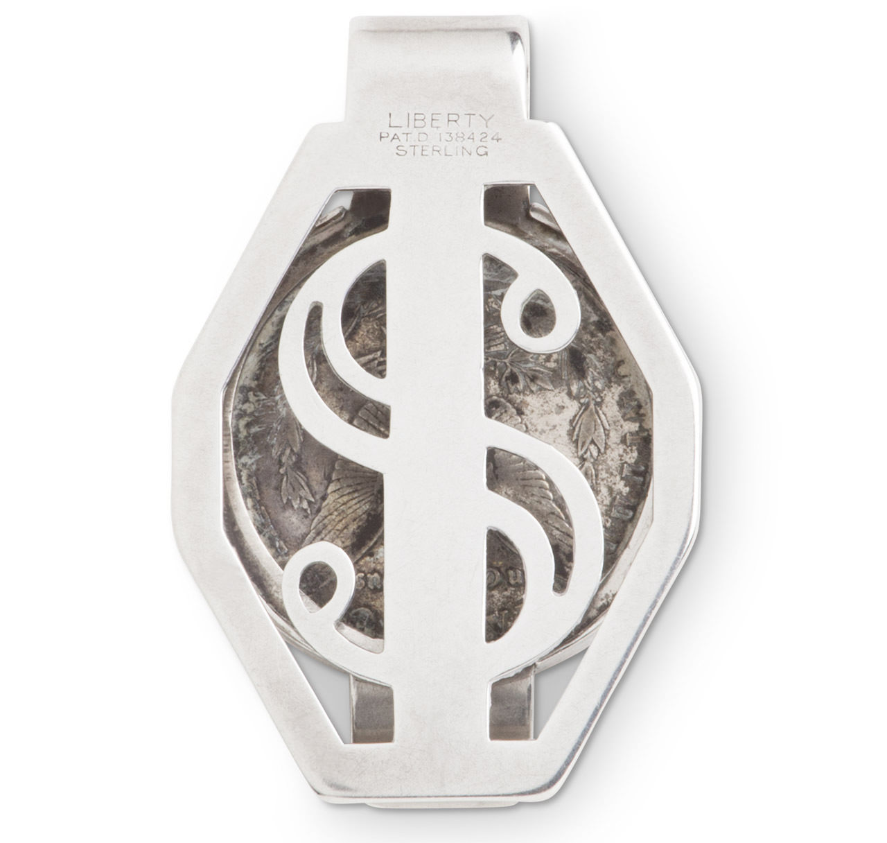 Silver Dollar Money Clip