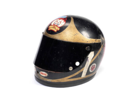 Barry Sheene's 1974 Bell racing helmet